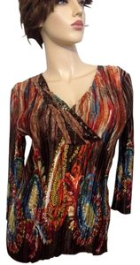 Alberto Makali Embellished Sequin Top Multi- Color