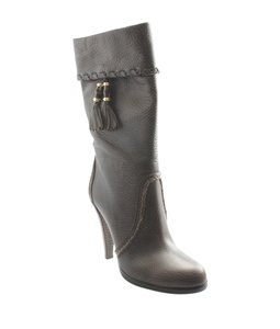 Gucci Mid - Calf Leather Brown Boots