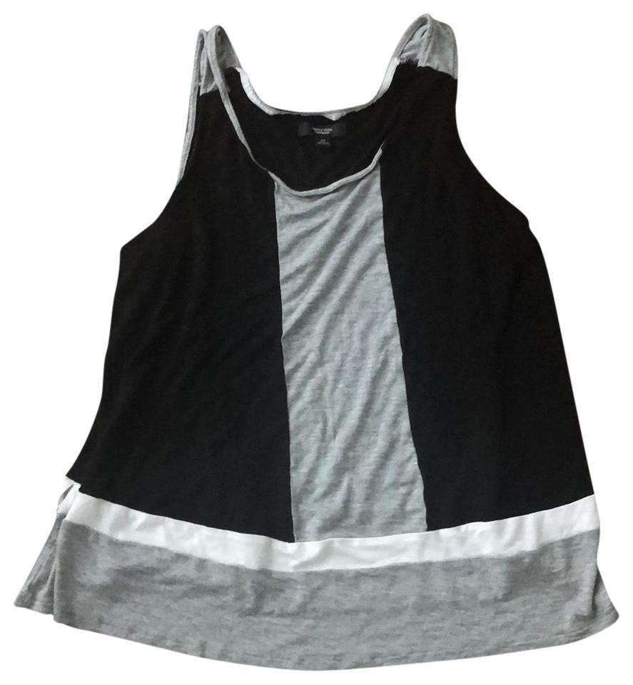 069992da4504b1 Simply Vera Vera Wang Black Gray And. White Colorblocked Tank Top ...