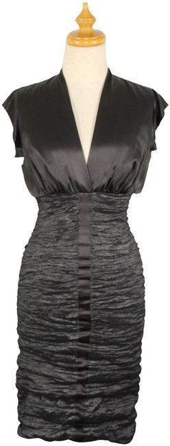 Item - Collection Chocolate and Metallic Dark Olive Style Bq0125 Mid-length Cocktail Dress Size Petite 2 (XS)