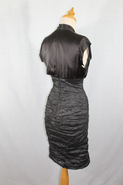 Nicole Miller Collection Chocolate and Metallic Dark Olive Style Bq0125 Mid-length Cocktail Dress Size Petite 2 (XS) Nicole Miller Collection Chocolate and Metallic Dark Olive Style Bq0125 Mid-length Cocktail Dress Size Petite 2 (XS) Image 4