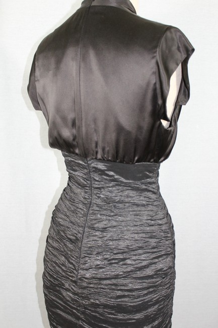 Nicole Miller Collection Chocolate and Metallic Dark Olive Style Bq0125 Mid-length Cocktail Dress Size Petite 2 (XS) Nicole Miller Collection Chocolate and Metallic Dark Olive Style Bq0125 Mid-length Cocktail Dress Size Petite 2 (XS) Image 5