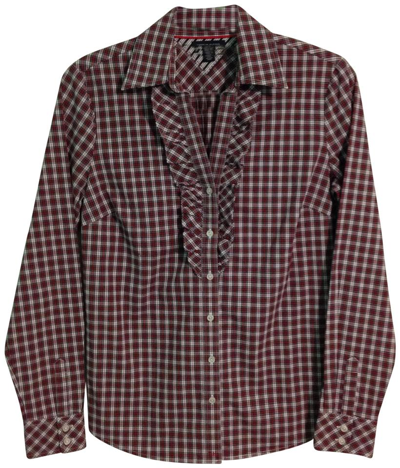 5584b3d5 Tommy Hilfiger Red Plaid Button-down Top Size 6 (S) - Tradesy