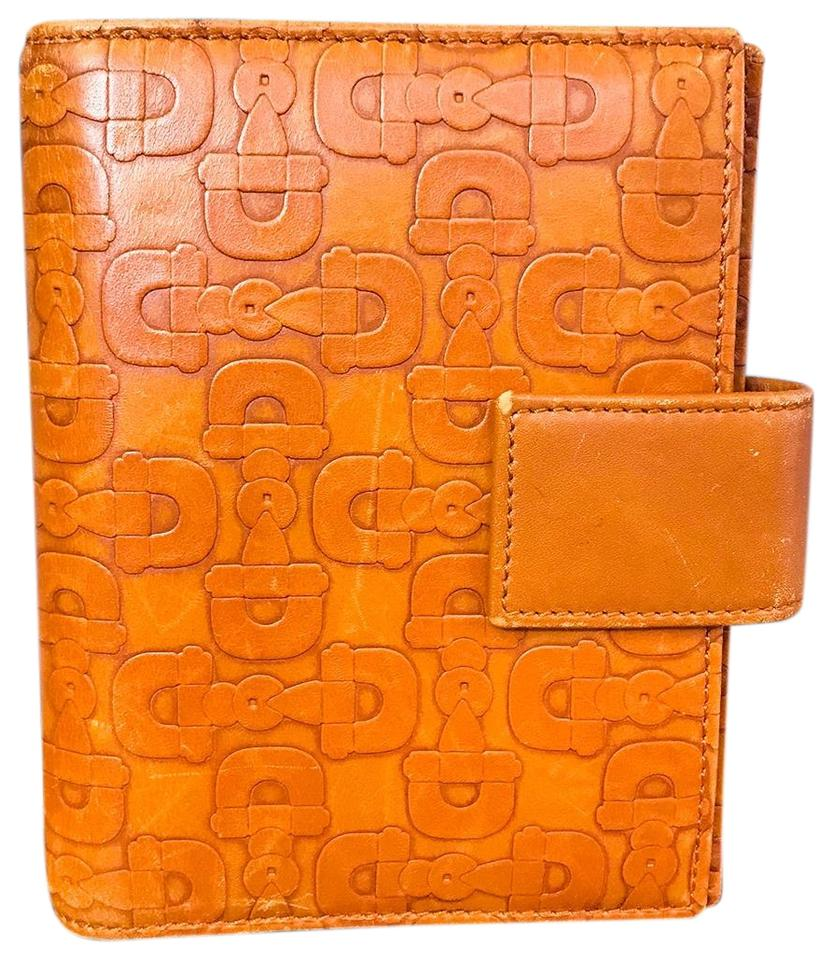 91c31149493 Gucci Gucci Orange Embossed Horsebit Leather Agenda Cover Image 0 ...