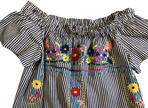 The Impeccable Pig short dress navy stripe Stylish Cute Colorful on Tradesy