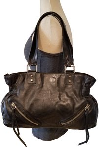 Banana Republic Leather Balenciaga Satchel in black