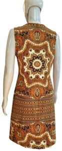 J. McLaughlin short dress Brown multi Stretchy Ethnic Sleeveless on Tradesy