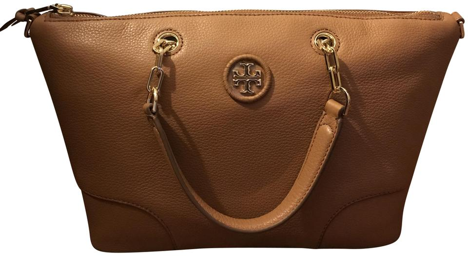 bc2cde5bac53 Tory Burch Slouchy Crossbody Shoulder Satchel in Bark Brown Image 0 ...