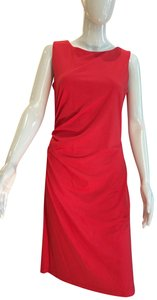 J.McLaughlin short dress Red Stretchy Boatneck Ruched on Tradesy