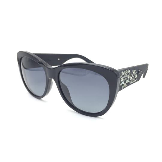 Dior Inedite Classic Cat Eye Crystal Matte Sunglasses UI5HD Image 1