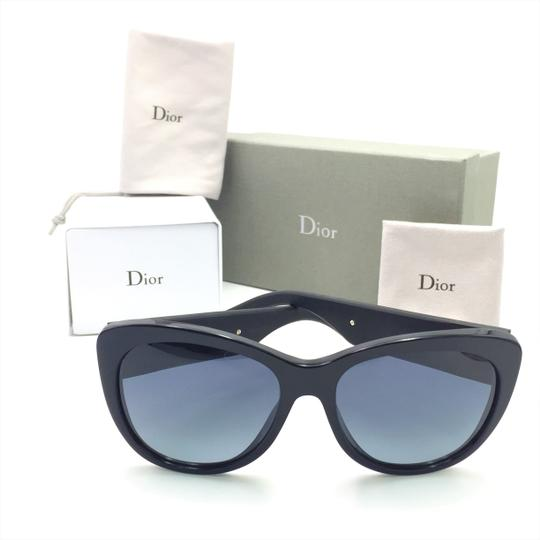 Dior Inedite Classic Cat Eye Crystal Matte Sunglasses UI5HD Image 2