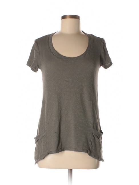 Item - Taupe/Gray Left Of Center T-shirt Tunic Size 2 (XS)