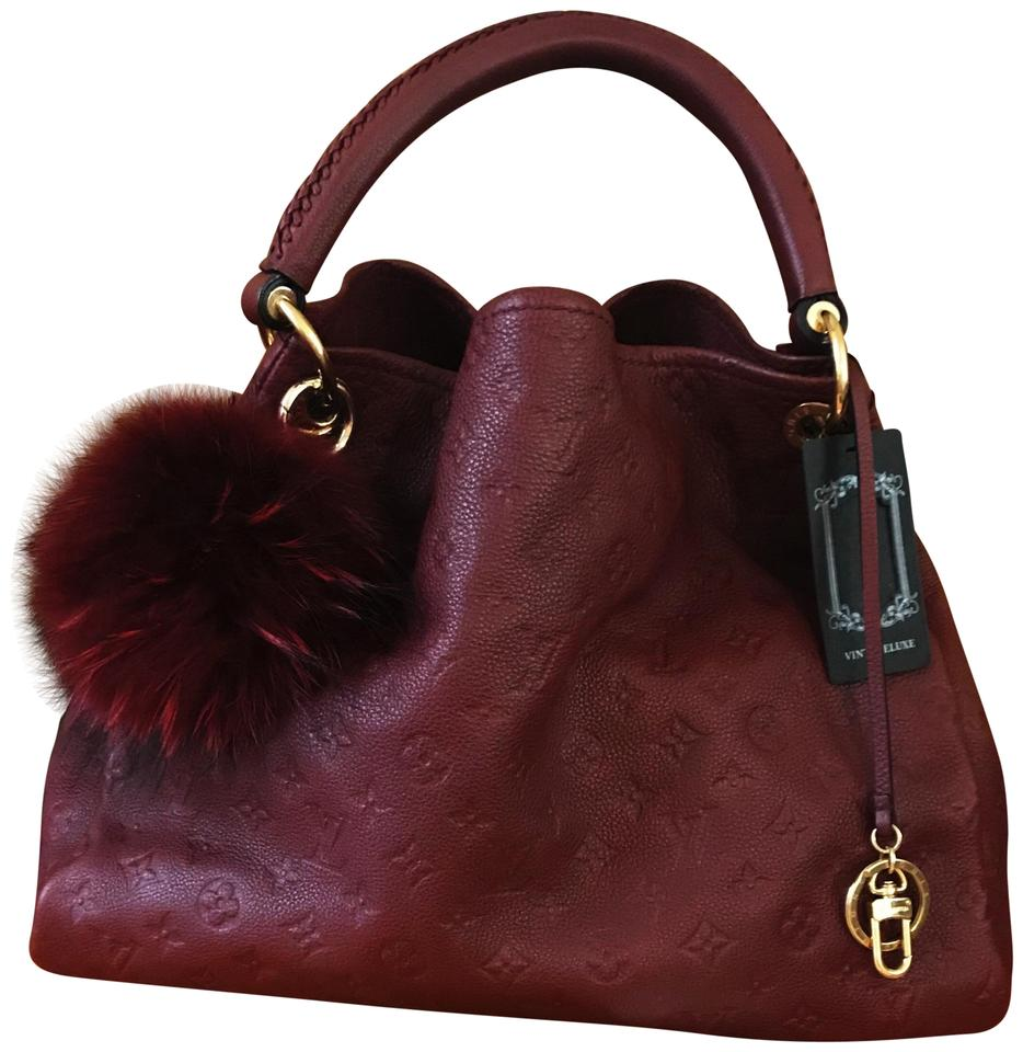 f7d5f9c78640 Louis Vuitton Artsy Mm Monogram Tote Shoulder Maroon Empriente Leather Hobo  Bag