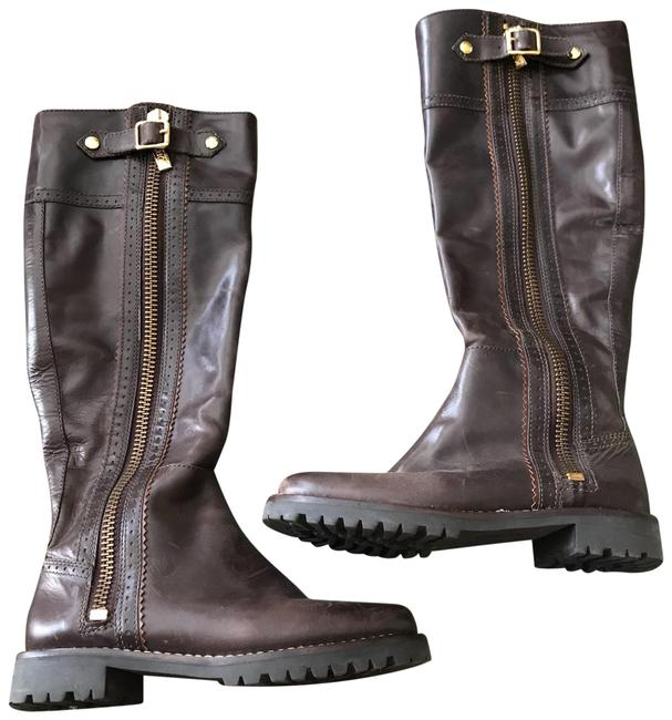 Michael Kors Brown Leather High Zip-up Boots/Booties Size US 6 Regular (M, B) Michael Kors Brown Leather High Zip-up Boots/Booties Size US 6 Regular (M, B) Image 1