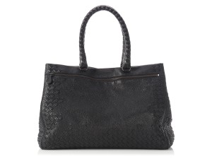 Bottega Veneta Woven Zipper Leather Bv.p0327.13 Tote in Black Nero