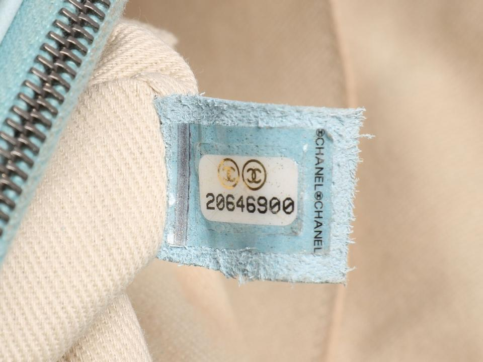 aa15a6c480c5 Chanel Classic Distressed Quilted Flap Sky Blue Calfskin Leather ...