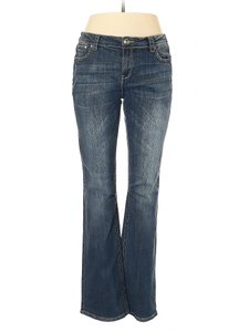 Grace in LA Easy Fit Aztec Pants Boot Cut Jeans-Medium Wash