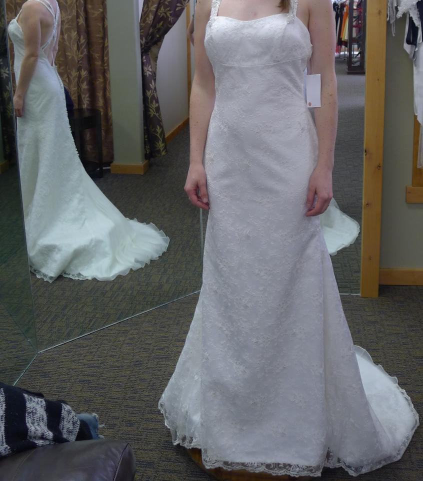 Sophia & Camilla Ivory Lace #83004a Wedding Dress Size 8 (M) - Tradesy