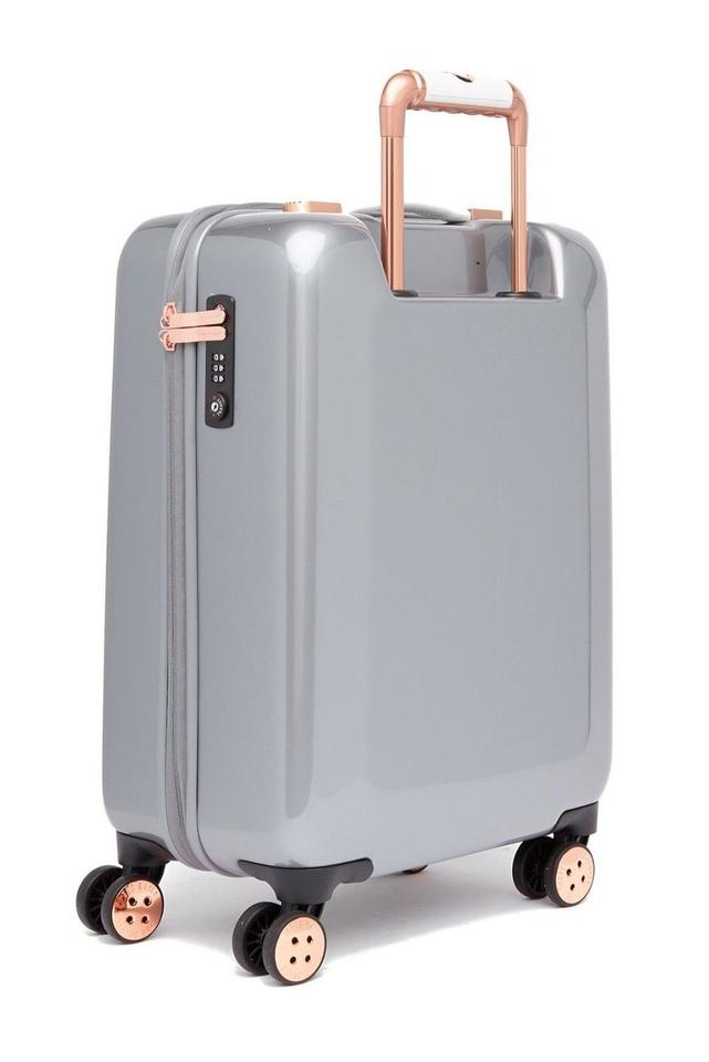 3d8a7764d4e0b Ted Baker Mirrored Mineral Suitcase Trolley Designer Luggage Tsa Lock Hard  Cover Grey Travel Bag Image. 12345