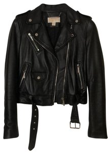 Michael Kors Black with silver hardware Leather Jacket