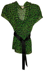 Odille Top black and green