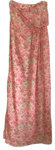 Pink floral Maxi Dress by Zara