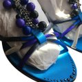 Emilio Pucci multicolored:blue, black, white and purple Sandals