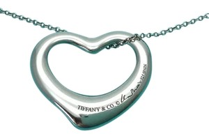 Tiffany & Co. Elsa Peretti NEW Large 22mm Silver Open Heart Necklace