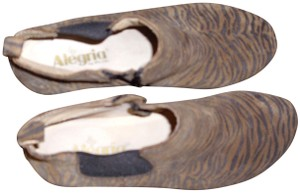 Alegria by PG Lite Suede Leather Animal Print Tan Boots