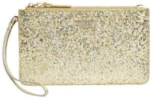 Kate Spade Wristlet in Gold and Silver Confetti Smooth Patent Finish