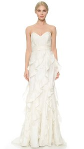 Badgley Mischka Ivory Eg0519 Feminine Wedding Dress Size 12 (L)