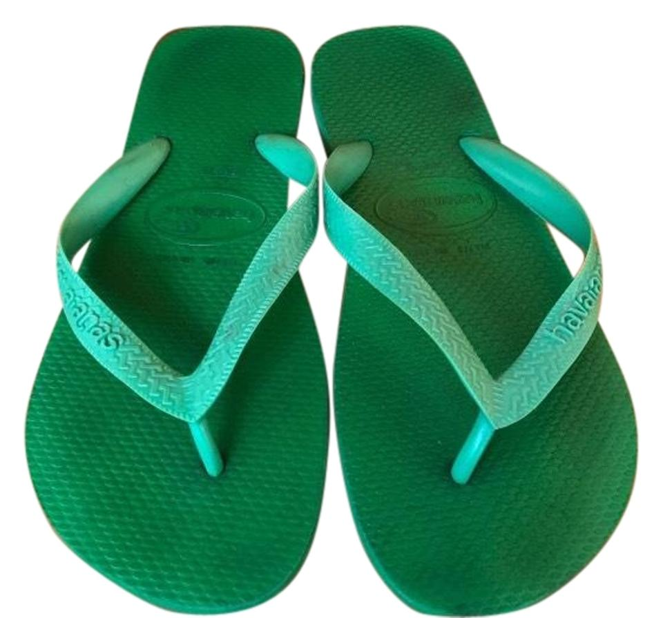 8c84db1efe41be Havaianas Green Flip Flops 1 2 Sandals Size US 7.5 Regular (M