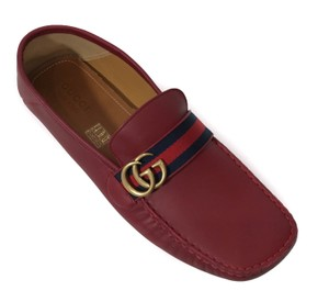 Gucci Red 431063 Men's Gg Guccissima Driver 12g/13us Shoes