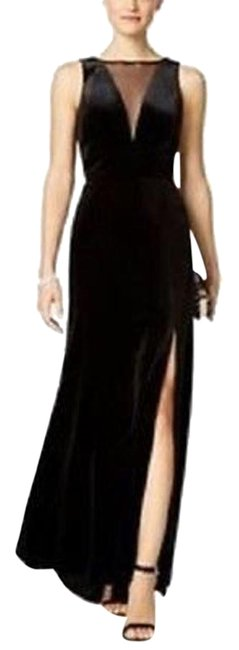 Preload https://img-static.tradesy.com/item/23273242/night-way-collections-black-plunging-illusion-velvet-gown-long-cocktail-dress-size-14-l-0-1-650-650.jpg