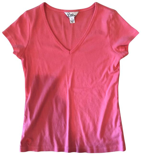 Lilly Pulitzer Pink Fitted Tee Shirt Size 4 (S) Lilly Pulitzer Pink Fitted Tee Shirt Size 4 (S) Image 1