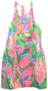 Lilly Pulitzer short dress Multi Color Sundress Grayes Racer-back Summer on Tradesy