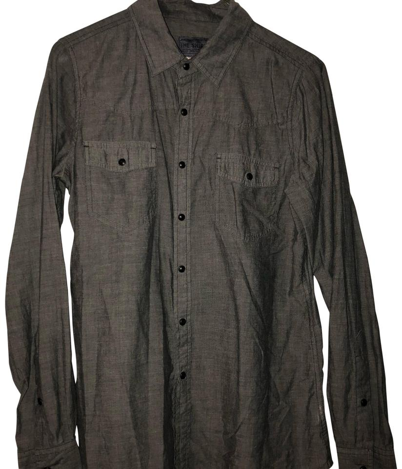 a73f242db0 JOE S Jeans Gray (Light Weight) Button-down Top Size 2 (XS) - Tradesy