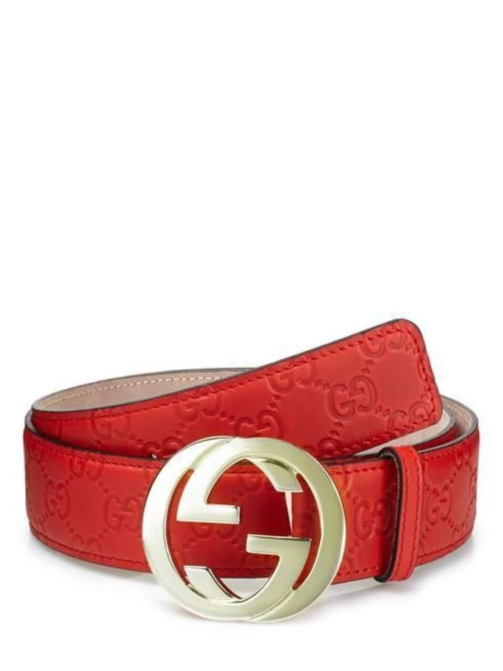 8ed966a71d254 Gucci men Guccissima G buckle red leather belt - 95/38; Fit pants size ...