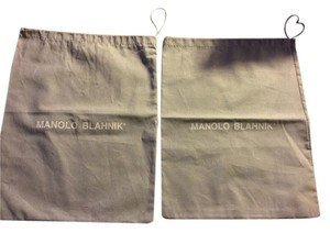 Manolo Blahnik Lot Of 2x Manolo Blahnik 10.5x13.5 Dust Storage Bags