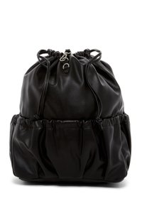 French Connection Nylon Fauxleather Backpack