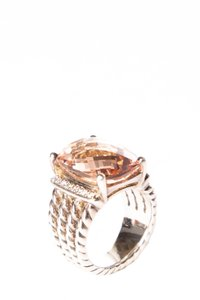 David Yurman Sterling Silver Faceted Morganite Ring