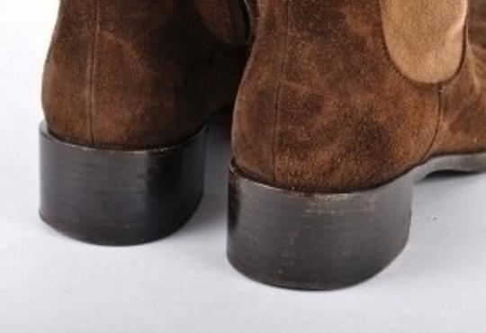 Prada dark brown and light brown suede Boots
