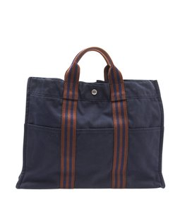 Hermès Canvas Tote in Black