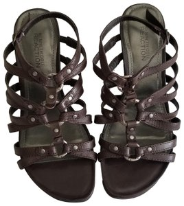 Kenneth Cole Reaction Comfortable Gladiator Brown Wedges