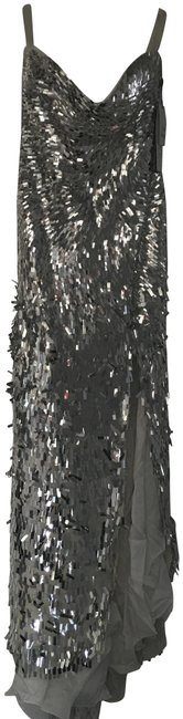 Item - Silver Gown Long Formal Dress Size 12 (L)