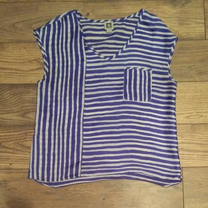 Anne Klein Top White and Blue