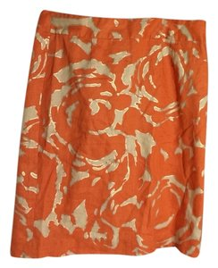 J.Crew Skirt Orange & Gold