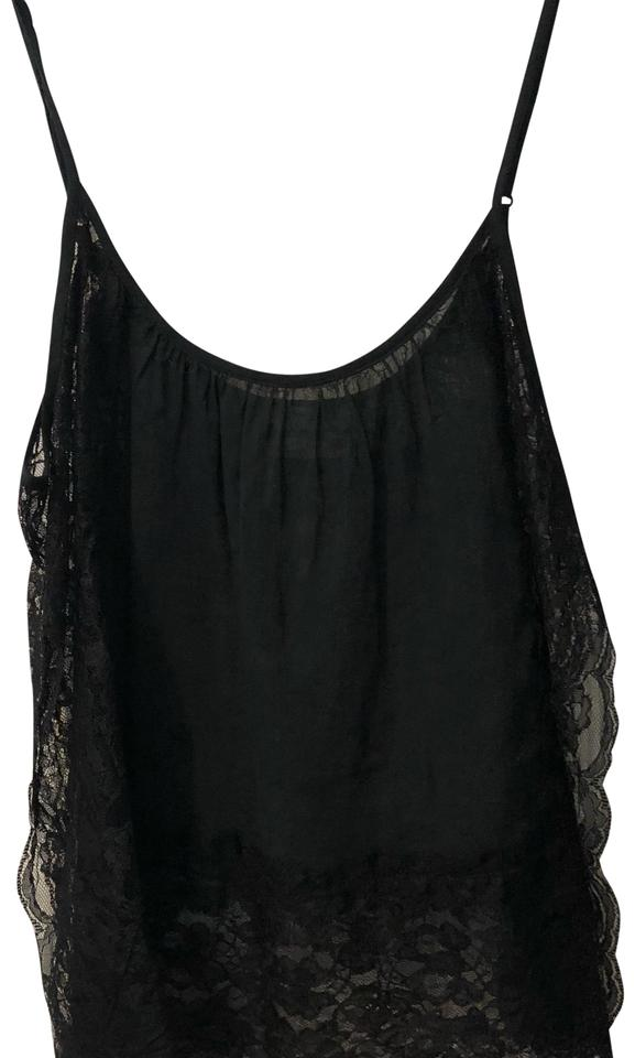 835b3765b5d0e Free People Lace Trim Camisole Sleeveless Sheer Boho Top black Image 0 ...