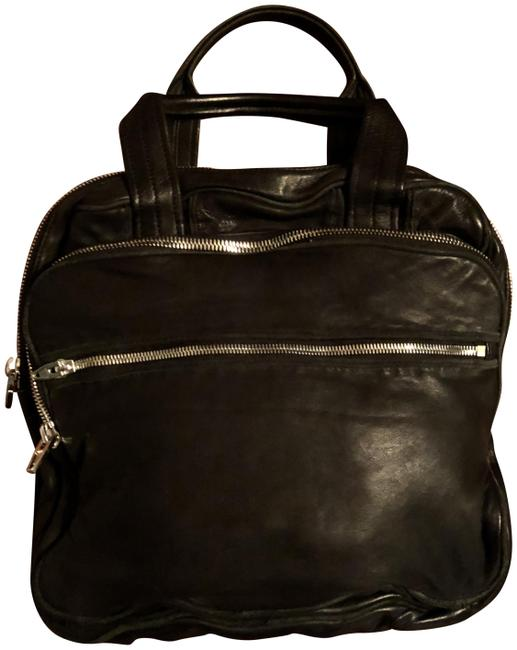 Item - Zipper with Tags Black Lambskin Leather Tote