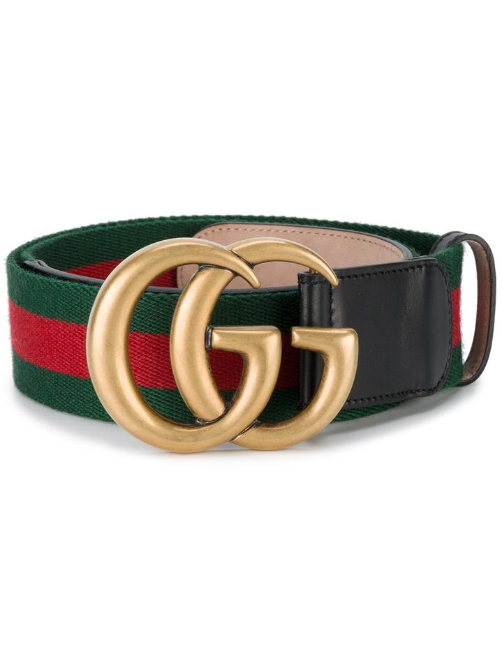 22aa3b6161e Gucci SOLD OUT! GUCCI Marmont Web belt with Double G gold buckle Size 80  Image ...